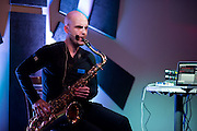 Saxophone artist Pedro Saxo performs at 3rd and Lindsley Backstage in Nashville, TN.