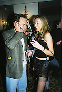 Grace Ricci and Fabien Picket. Candace Bushnell book party. Harington's. London. 1 February 2001. © Copyright Photograph by Dafydd Jones 66 Stockwell Park Rd. London SW9 0DA Tel 020 7733 0108 www.dafjones.com