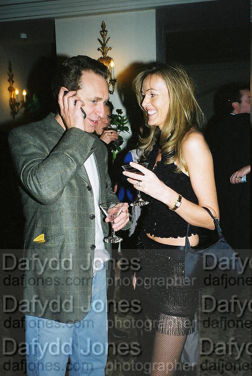 Grace Ricci and Fabien Picket. Candace Bushnell book party. Harington's. London. 1 February 2001. © Copyright Photograph by Dafydd Jones 66 Stockwell Park Rd. London SW9 0DA Tel 020 7733 0108 www.dafjones.com