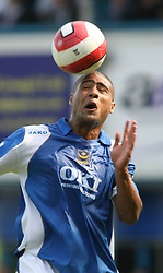 Portsmouth, England: Saturday, April 28, 2007: Portsmouth's Glen Johnson in action against Liverpool during the Premiership match at Fratton Park (Pic by Chris Ratcliffe/Propaganda)