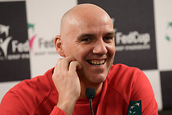February 6, 2019 - Liege, BELGIQUE - LIEGE, BELGIUM - FEBRUARY 6 :  captain Johan Van Herck pictured during a press conference of Belgium prior to the Fed Cup World Group 1st Round meeting between Belgium and France on February 06, 2019 in Liege, Belgium, 6/02/2019  (Credit Image: © Panoramic via ZUMA Press)