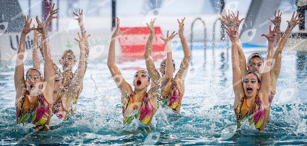 Finale Squadra<br /> SINCRO SEREGNO<br /> FIN Campionati Assoluti Invernali di Nuoto Sincronizzato 2015<br /> Torino, Italia - 6/8 Febbraio 2015<br /> Day02 - 8 Febbraio<br /> Photo Pasquale F. Mesiano/Deepbluemedia/Inside