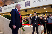 Donald J. Trump President of the United States of America Office of the President of the<br /> United States<br /> USA at the Annual Meeting 2018 of the World Economic Forum in Davos, January 26, 2018.<br /> Copyright by World Economic Forum / Greg Beadle