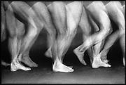 Nederland, Nijmegen, 10-10-1998..Opname met stroboscoop licht van het lopen. Voetstap, motoriek, spieren, beweging, voortbewegen. Fysiotherapie..Foto: Flip Franssen/Hollandse Hoogte