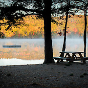 Saying goodbye to summer on Pea Porridge Pond in Conway, NH
