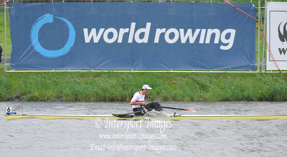 Amsterdam, NETHERLANDS, GER BM1X winning the Bronze medal at the 2011 FISA U23 World Rowing Championships, Sunday, 24/07/2011 [Mandatory credit:  Intersport Images].