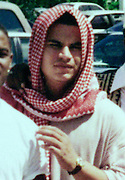 Jose Padilla, also known as Abdullah al Muhajir, poses with friends outside the Dural Uloom Institute in Pembroke Pines, Florida in this undated photograph. Padilla, who took Koranic studies classes at the Islamic center between 1995 and 1997, was arrested May 8 by the United States government and is being held as an ``enemy combatant.''