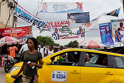 Dec 17, 2018 - Kinshasa, DR Congo - Election posters showing Presidential candidates hang in the streets of Kinshasa. The Democratic Republic of Congo is on edge ahead of the December 23 vote to replace President J. Kabila, who has ruled the resource rich nation since 2001. (Credit Image: ? Stefan Kleinowitz/ZUMA Wire)