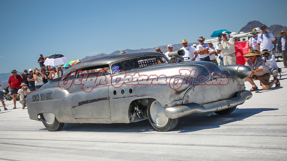 Ronnie 'Cowboy' Dunn in the Bombshell Buick, owned and built by Jeff Brock.