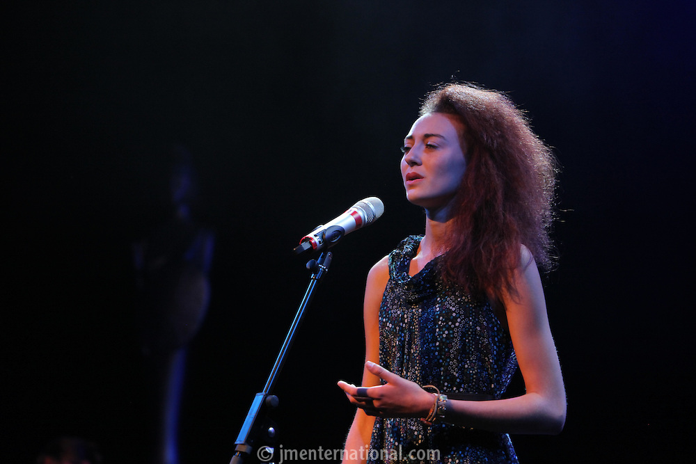 Ashleigh Ludwig performing at The BRIT School Industry Day, Croydon, London..Thursday, Sept.22, 2011 (John Marshall JME)