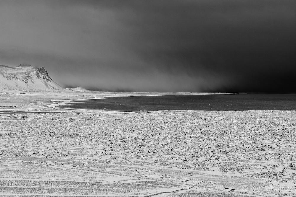 Lava, covered in snow, Snaefellsnes, Iceland - hraun í snjó á Snæfellsnesi