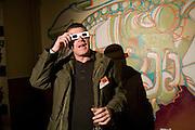 Graffiti artist: CHU , The launch of Your Game 2008. Swiss Ambassador's Residence car park. Bryanston Sq. London. W1. 28 February 2008.  *** Local Caption *** -DO NOT ARCHIVE-© Copyright Photograph by Dafydd Jones. 248 Clapham Rd. London SW9 0PZ. Tel 0207 820 0771. www.dafjones.com.