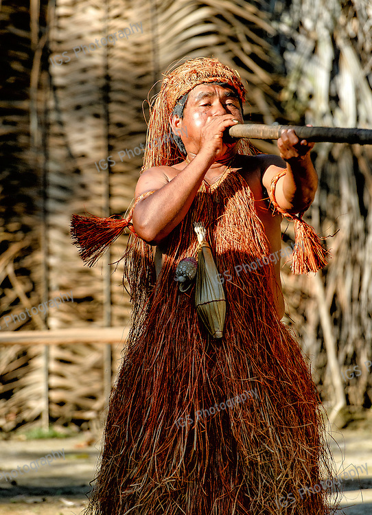 Yagua Indian Man with blowgun