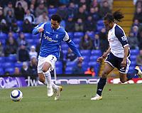 Photo: Dave Linney.<br />Birmingham City v Tottenham Hotspur. The Barclays Premiership. 18/03/2006.Bham's Jermaine Pennant(L) skips past   Edgar Davids