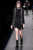 Vanessa Moody (WOMEN) walks the runway wearing Alexander Wang Fall 2015 during Mercedes-Benz Fashion Week in New York on February 14, 2015