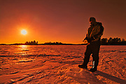 Ice fishing  on Lake of the Woods<br />Kenora<br />Ontario<br />Canada
