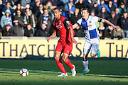 Barrow's Byron Harrison and Bristol Rovers Tom Lockyer during the The FA Cup match between Bristol Rovers and Barrow at the Memorial Stadium, Bristol, England on 4 December 2016. Photo by Shane Healey.