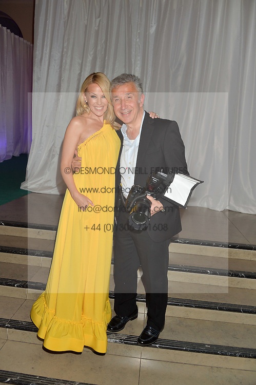 KYLIE MINOGUE and JAMES PELTEKIAN at the V&A Summer Party in association with Harrod's held at The V&A Museum, London on 22nd June 2016.