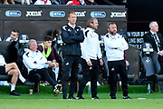 Swansea City manager Graham Potter during the EFL Sky Bet Championship match between Swansea City and Queens Park Rangers at the Liberty Stadium, Swansea, Wales on 29 September 2018.