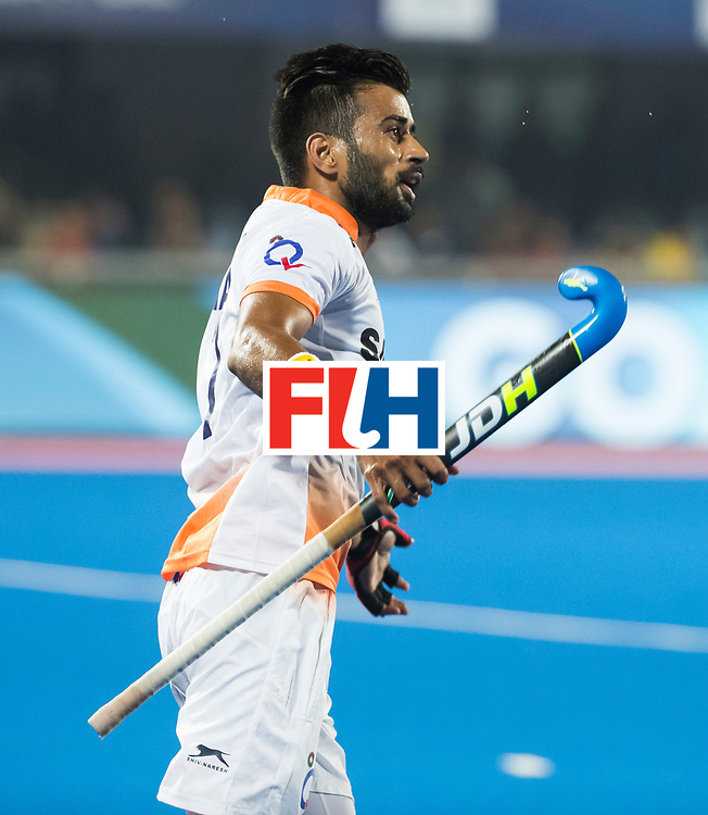 BHUBANESWAR - The Odisha Men's Hockey World League Final . Match ID 06 . India v England (2-3).  Manpreet Singh (Ind) .     WORLDSPORTPICS COPYRIGHT  KOEN SUYK