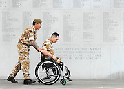 UNITED KINGDOM-LONDON.  The Coldstream Guards hold their welcome home parade through Central London this morning. 650 troops, recently returned from Afghanistan, attended a memorial service for lost comrades at the Guards Chapel before marching along Birdcage Walk to the Guards Memorial on Horse Guards, where they laid a wreath to the fallen men. 24/06/2010. STEPHEN SIMPSON...