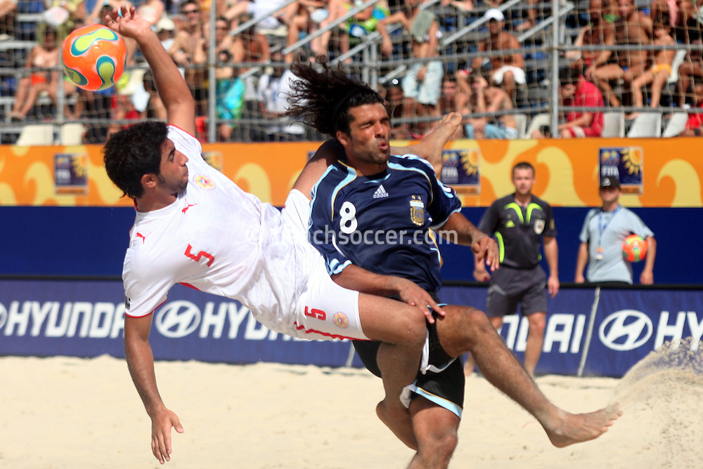 Football - FIFA Beach Soccer World Cup 2006 - Group D - BHR x ARG - Rio de Janeiro - Brazil 04/11/2006<br />