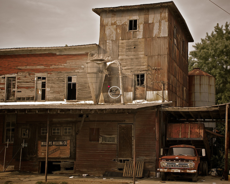 Williams Feed Mill abandoned, in Lawrence County Indiana. Only feral cats inhabit this place now.
