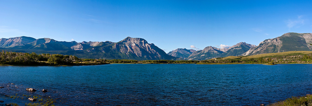Waterton Lakes National Park and International Peace Park in Alberta, Canada. This park connects with Glacier National Park in Montana, USA - and together they constitute an international peace park and a shared conversation resource between Canada and the US.