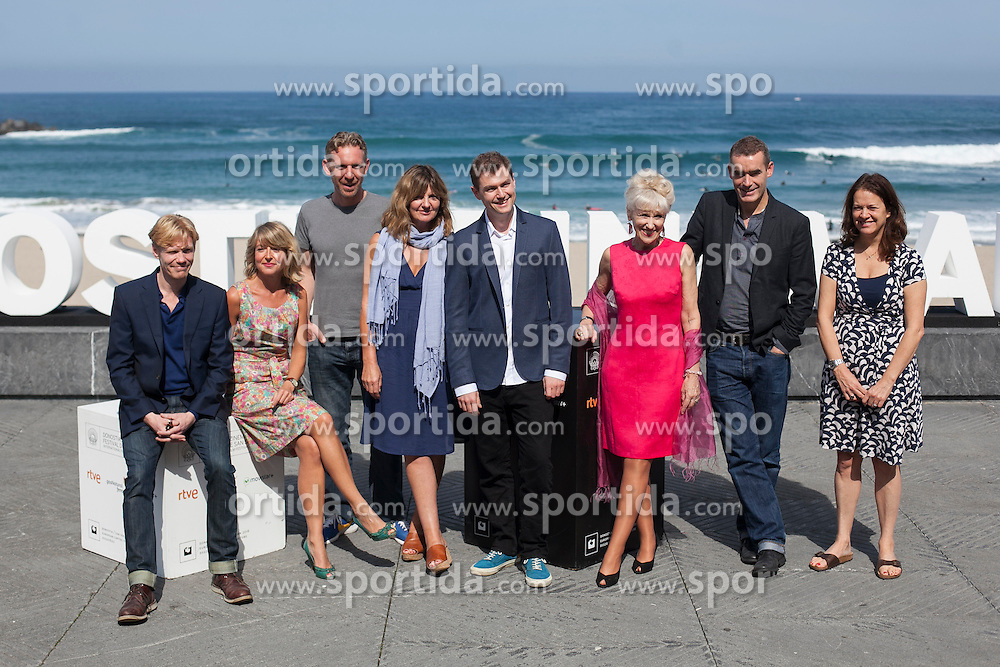 26.09.2015, Madrid, San Sebastian, ESP, San Sebastian International Film Festival, im Bild Rufus Norris, Anita Dobson, Clare Burt, Michael Schaeffer and Paul Thornley pose during `London road&acute; film presentation // at 63rd Donostia Zinemaldia, San Sebastian International Film Festival in Madrid in San Sebastian, Spain on 2015/09/26. EXPA Pictures &copy; 2015, PhotoCredit: EXPA/ Alterphotos/ Victor Blanco<br /> <br /> *****ATTENTION - OUT of ESP, SUI*****