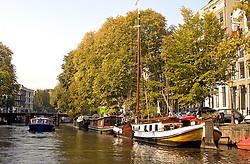 Amsterdam canal scene.