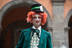 May 6, 2017 - Naples, Italy, Italy - A great flash mob dedicated to fantasy and the magical and surreal world of Alice in Wonderland, to which all of them can participate. (Credit Image: © Giuseppe Ricciardiello/Pacific Press via ZUMA Wire)