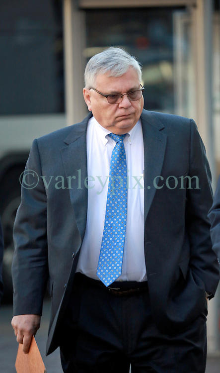 21st January, 2014. New Orleans, Louisiana.<br /> Anthony Badalamenti arrives at federal Court for sentencing. Badalamenti, 62 yrs of Katy, Texas is the former Haliburton manager who plead guilty to destroying evidence in the aftermath of the 2010 BP Macondo Well oil rig disaster in the Gulf of Mexico. He faces a maximimum sentence of up to 1 year in prison and up tp $100,000 fine. Badalamenti was the cementing technology director for Haliburton Energy Services.