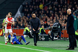 Daley Blind #17 of Ajax and Coach Jose Bordalas, Deyverson #14 of Getafe in action during the Europa League match R32 second leg between Ajax and Getafe at Johan Cruyff Arena on February 27, 2020 in Amsterdam, Netherlands