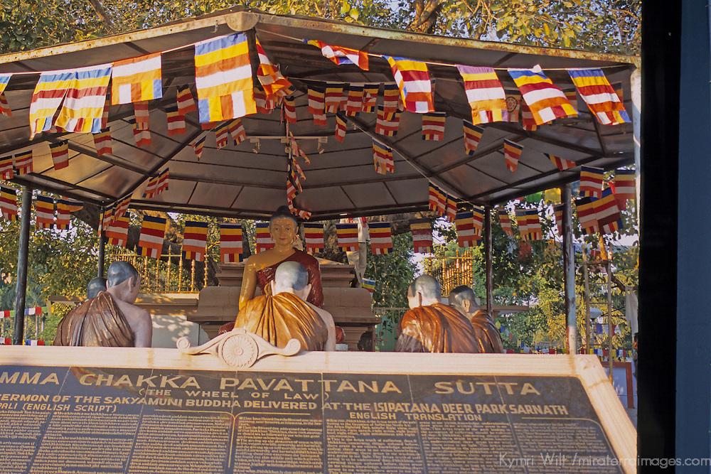 Asia, India, Sarnath. Buddha's sermon at Deer Park.