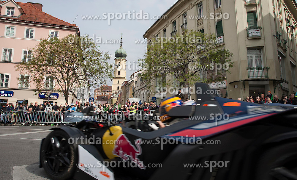05.04.2014, Innenstadt, Graz, AUT, Saisoneroeffnung Spielberg in Graz, im Bild Karl Wendlinger // during the Spielberg in Graz Season Opening for the Red Bull Ring at the City Center, Graz, Austria on 2014/04/05, EXPA Pictures © 2014, PhotoCredit: EXPA/ Erwin Scheriau