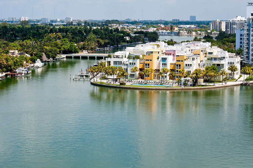 Luxury condominum units in Indian Creek, Miami Beach.