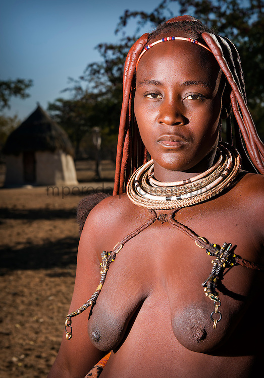 Himba woman in a himba village near Kamanjab