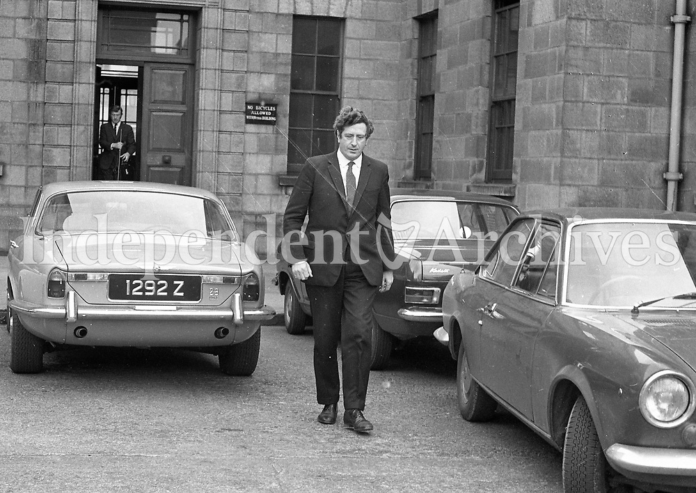 Garreth Fitzgerald at the Supreme Court May 1971. (Part of the Independent Newspapers/NLI Collection)