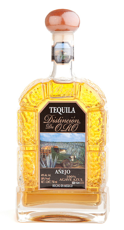 Distinción de Oro Tequila Añejo -- Image originally appeared in the Tequila Matchmaker: http://tequilamatchmaker.com