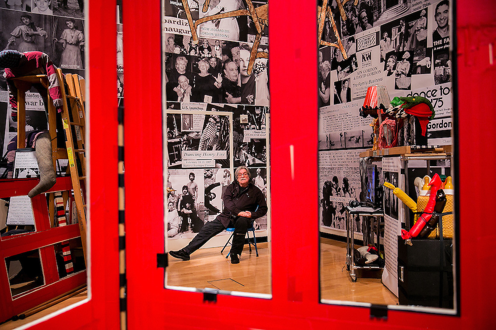 NEW YORK, NY - DECEMBER 27, 2016: Director and choreographer David Gordon poses for a portrait inside his retrospective instillation  DAVID GORDON: ARCHIVEOGRAPHY - Under Construction at The New York Public Library for the Performing Arts at Lincoln Center in New York, New York. CREDIT: Sam Hodgson for The New York Times.