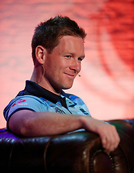 England's Eoin Morgan during the Cricket World Cup captain's launch event at The Film Shed, London.
