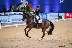 STIEGLMAIER Franziska (GER), DSP Dauphin<br /> München - Munich Indoors 2019<br /> Preis der Liselott und Klaus Rheinberger Stiftung<br /> Grand Prix de Dressage (CDI4*) <br /> Wertungsprüfung MEGGLE Champion of Honour,<br /> Qualifikation für Grand Prix Special<br /> 22. November 2019<br /> © www.sportfotos-lafrentz.de/Stefan Lafrentz