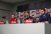 England Midfielder Wayne Rooney and England Caretaker Manager Gareth Southgate during the England Press Conference at Stadion Stozce , Ljubljana, Slovenia on 10 October 2016. Photo by Phil Duncan.