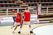 Amedeo Della Valle, Marco Cusin<br /> Raduno Nazionale Maschile Senior<br /> Allenamento Mattutino Trentino Basket CUP<br /> Trento 29/07/2017<br /> Foto Ciamillo-Castoria/ A.Gilardi