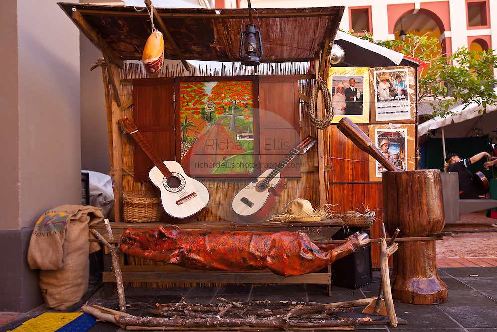 Art festival during the Festival of San Sebastian in San Juan, Puerto Rico.
