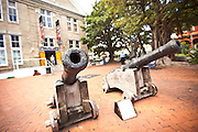 Old ship canons outside treasure hunter Mel Fishers Maritime Museum Key West, Florida.