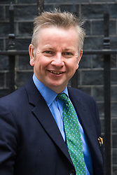 Downing Street, London, June 9th 2015. Justice Secretary Michael Gove leaves 10 Downing Street following the weekly meeting of the Cabinet.
