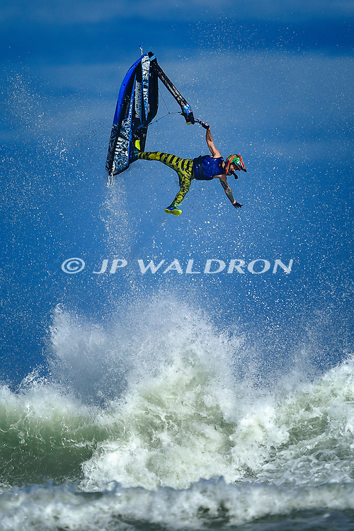 January 13, 2017: Jake Bright freestyle performance at the Daytona Beach Free-ride at Daytona Beach, Florida.  JP Waldron
