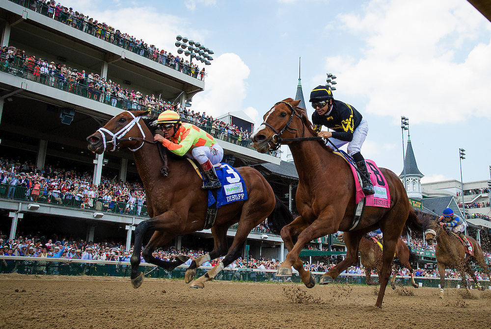 May 02, 2015: Dame Dorothy with Javier Castellano up defeats Judy the Beauty and Mike Smith to take the Humana Distaff at Churchill Downs Louisville Ky. Alex Evers/ESW/CSM