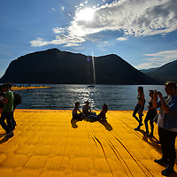 "Christo's & Jeanne-Claude's ""The Floating Piers"" Project on Lake Iseo as experienced by the visiting public."